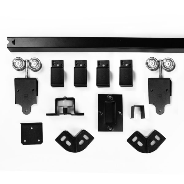 sliding door box track hardware kit