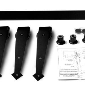 Bi parting arrowhead flat track hanger kit