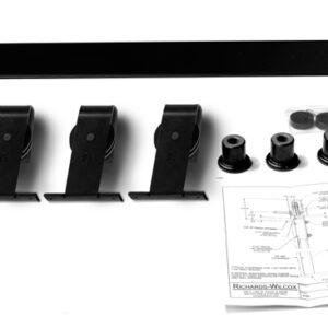 Bi-parting Door Top Mount Flat Track Hardware Kit