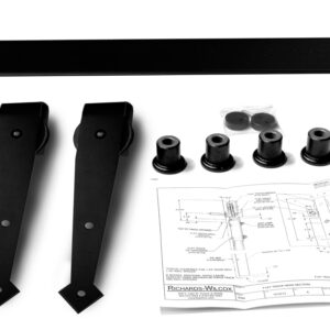 Single Door Decorative Flat Track Hardware Kit