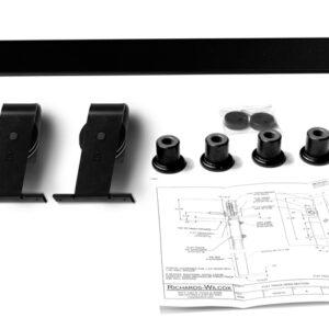 Single Door Top Mount Flat Track Hardware Kit